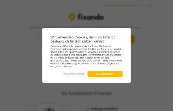 Vorschau von www.fixando.de, Fixando B.V.