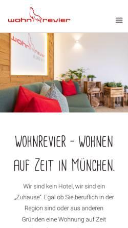 Vorschau der mobilen Webseite www.wohnrevier.de, wohnrevier - Högner GmbH & Co. KG