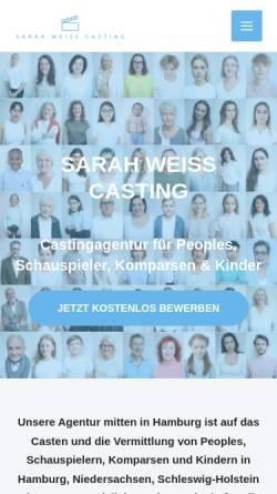 Vorschau der mobilen Webseite castingagentur-weiss.de, Sarah Weiss Casting