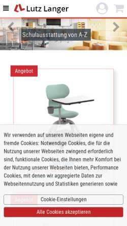 Vorschau der mobilen Webseite www.lutzlanger.de, Lutz Langer GmbH