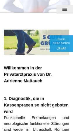 Vorschau der mobilen Webseite www.ortho-mattauch.de, Praxis Ortho - Mattauch