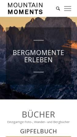 Vorschau der mobilen Webseite www.mountainmoments.de, Mountain Moments