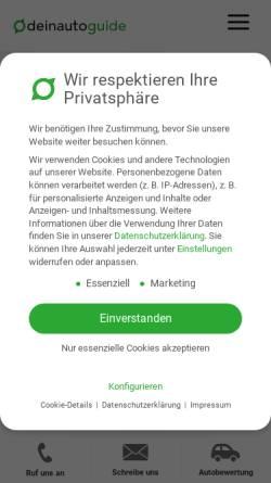 Vorschau der mobilen Webseite deinautoguide.de, DeinAutoGuide - DAG GmbH