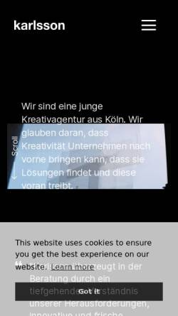 Vorschau der mobilen Webseite mo-ku.de, moku web+grafik