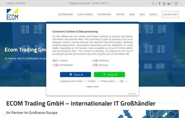 Vorschau von www.ecom-trading.de, Ecom Electronic Components Trading GmbH