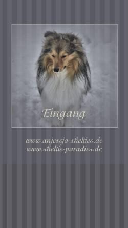 Vorschau der mobilen Webseite www.sheltie-paradies.de, Anjessjo-Shelties - Monika und Ralf Horn