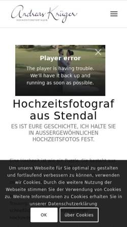 Vorschau der mobilen Webseite www.andreaskrueger-fotografie.de, Andreas Krüger Fotografie