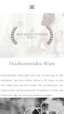 Vorschau der mobilen Webseite hochzeitsvideowien.at, Hochzeitsvideo Wien
