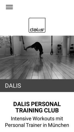 Vorschau der mobilen Webseite www.dalistraining.de, Dalis Personal Training Club
