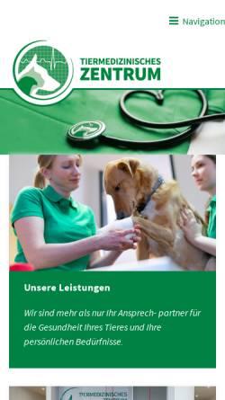 Vorschau der mobilen Webseite www.tiermed-zentrum.de, Tiermedizinisches Zentrum