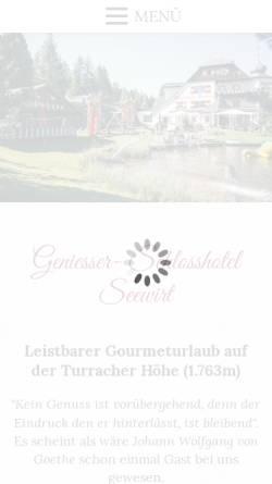 Vorschau der mobilen Webseite www.schlosshotel-seewirt.com, Geniesser Schlosshotel Seewirt