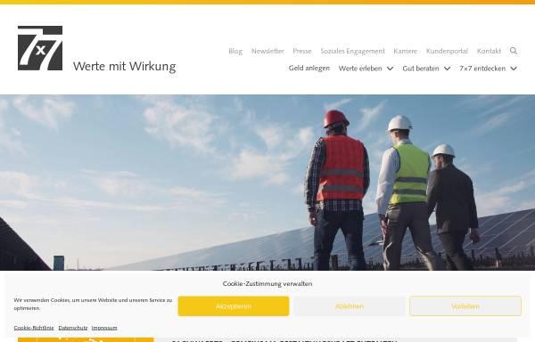 Vorschau von www.7x7.de, 7x7sachwerte GmbH & Co. KG