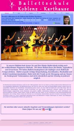 Vorschau der mobilen Webseite ballettschule-karthause.de, Ballettschule Karthause