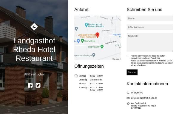 Vorschau von www.landgasthof-rheda.de, Landgasthof Rheda