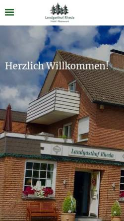 Vorschau der mobilen Webseite www.landgasthof-rheda.de, Landgasthof Rheda