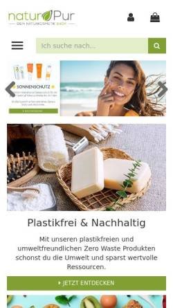 Vorschau der mobilen Webseite www.shop-naturpur.de, naturPur Shop