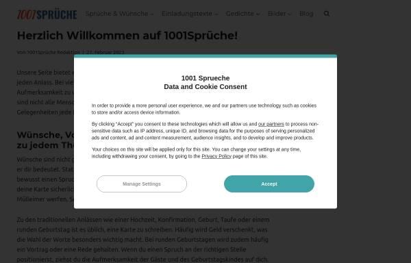Vorschau von 1001sprueche.com, 1001 Sprüche