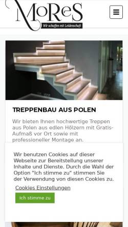 Vorschau der mobilen Webseite www.mores-treppen.de, MORES - Monika Szumska