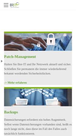 Vorschau der mobilen Webseite www.br-it.de, BRIT GmbH
