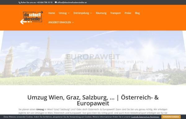 Vorschau von www.dieschnelluebersiedler.at, Die schnell Übersiedler