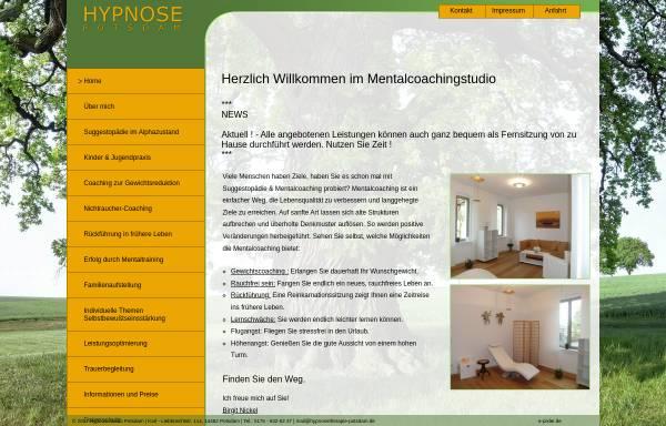 Vorschau: Hypnosestudio Potsdam - Birgit Nickel