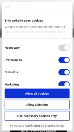 Vorschau der mobilen Webseite www.toy-palace.com, Toy Palace GmbH