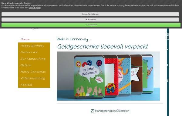 Vorschau von www.greetings.kaufen, Geldgeschenke Zadrazil e.U.