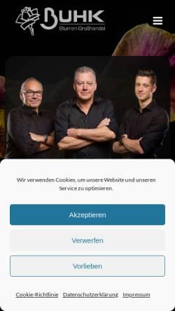 Vorschau der mobilen Webseite www.buhk-blumen.de, Stefan Buhk Blumengroßhandel e.K.