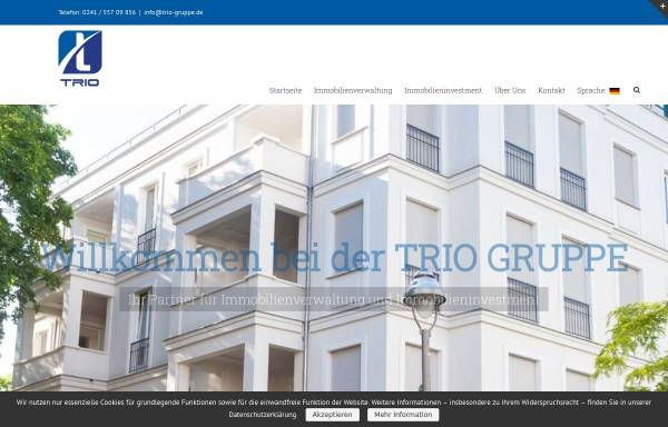 Vorschau von www.trio-gruppe.de, TRIO Immobilienverwaltung & Investment GmbH