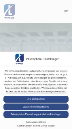 Vorschau der mobilen Webseite www.trio-gruppe.de, TRIO Immobilienverwaltung & Investment GmbH