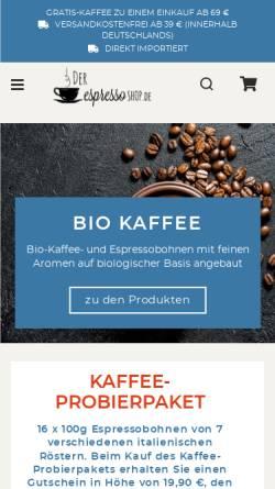 Vorschau der mobilen Webseite der-espressoshop.de, Der EspressoShop - Daniel Di Fiore