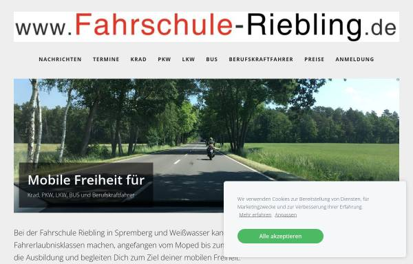 Vorschau von www.fahrschule-riebling.de, Fahrschule Riebling - Inh. Ulf Riebling
