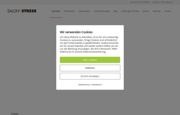 Vorschau von salon-strese.de, Salon Strese
