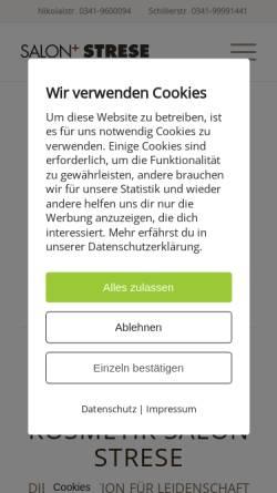 Vorschau der mobilen Webseite salon-strese.de, Salon Strese