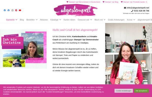 Vorschau von www.abgestempelt.net, abgestempelt - Christine Wöhr