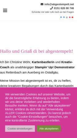 Vorschau der mobilen Webseite www.abgestempelt.net, abgestempelt - Christine Wöhr