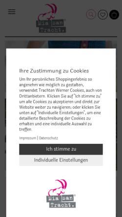 Vorschau der mobilen Webseite www.mia-san-tracht.de, Mia san Tracht