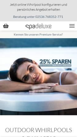 Vorschau der mobilen Webseite www.spadeluxe.de, SPA Deluxe GmbH