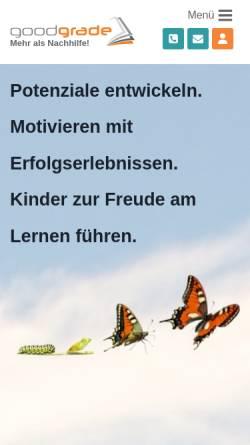 Vorschau der mobilen Webseite www.goodgrade.de, goodgrade GmbH & Co. KG