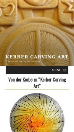 Vorschau der mobilen Webseite kerber-carving-art.com, Kerber Carving Art