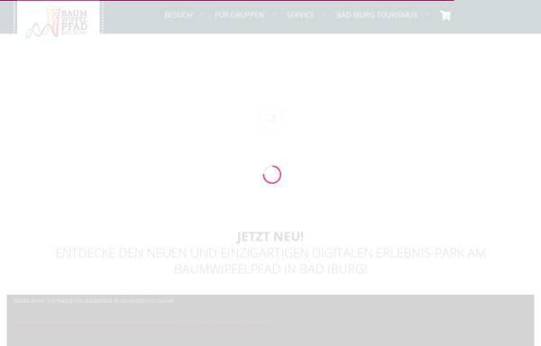 Vorschau von baumwipfelpfad-badiburg.de, Baumwipfelpfad Bad Iburg UG