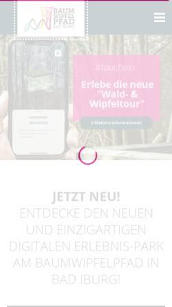 Vorschau der mobilen Webseite baumwipfelpfad-badiburg.de, Baumwipfelpfad Bad Iburg UG