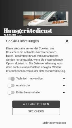 Vorschau der mobilen Webseite hgd-mueller.de, Hausgerätedienst Müller