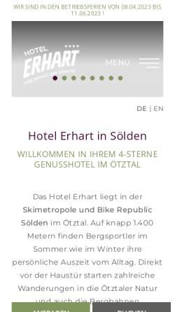 Vorschau der mobilen Webseite www.hotel-erhart.at, Hotel Erhart