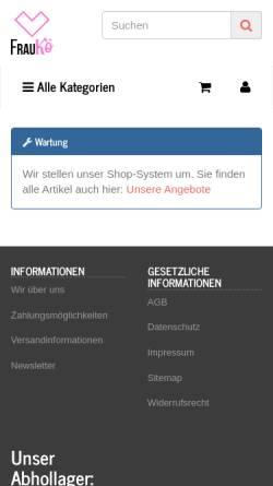 Vorschau der mobilen Webseite www.frauko.com, Frau Kö