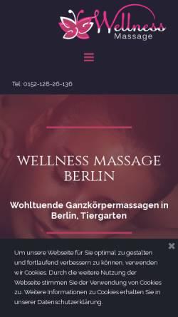 Vorschau der mobilen Webseite www.blissmassage.de, Wellness Massage, Berlin Tiergarten