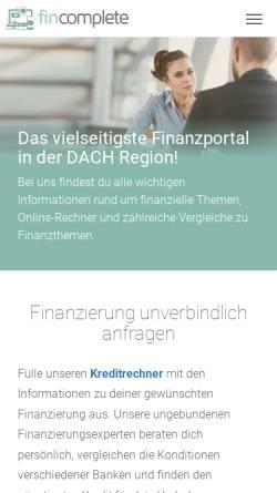 Vorschau der mobilen Webseite www.baningo.com, baningo GmbH