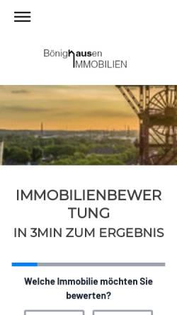 Vorschau der mobilen Webseite www.boenighausen-immobilien.de, Bönighausen Immobilien