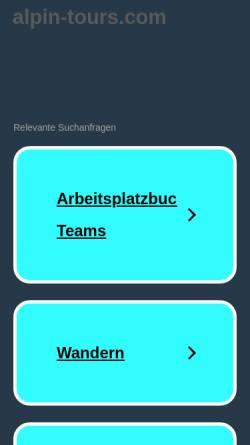 Vorschau der mobilen Webseite www.alpin-tours.com, Alpin Tours Burkart/Portenkirchner GbR