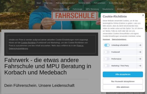Vorschau von www.fahrwerk-korbach.de, Fahrschule Fahrwerk